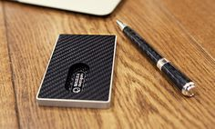 Carbon Fiber Card Case www.gentlemansedge.com Visit our site for a full line of mens accessories, leather goods, office, executive, smoking, and  travels essentials.