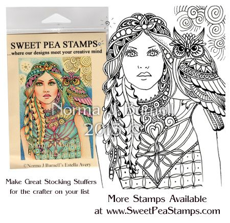 New Fairy Tangles™ Rubber Stamp available at Sweet Pea Stamps - Estella & Avery