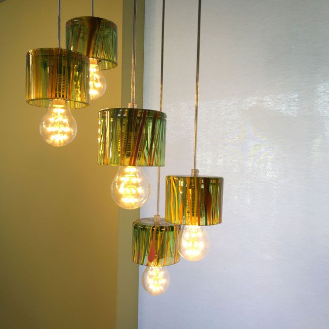 'Sertigtal'. Fifefold pendant by Richard Rooze for Oljos Glass Consepts.
