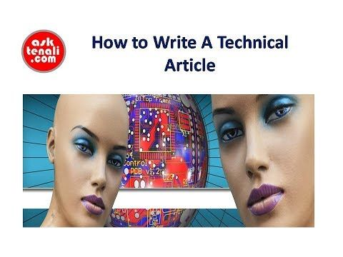 How to Write A Technical Article