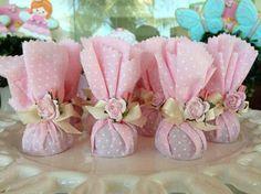 más y más manualidades: 12 ideas de souvenirs en tonos rosa para un baby shower