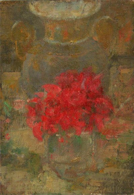 Olga Boznanska:  Vase of Flowers