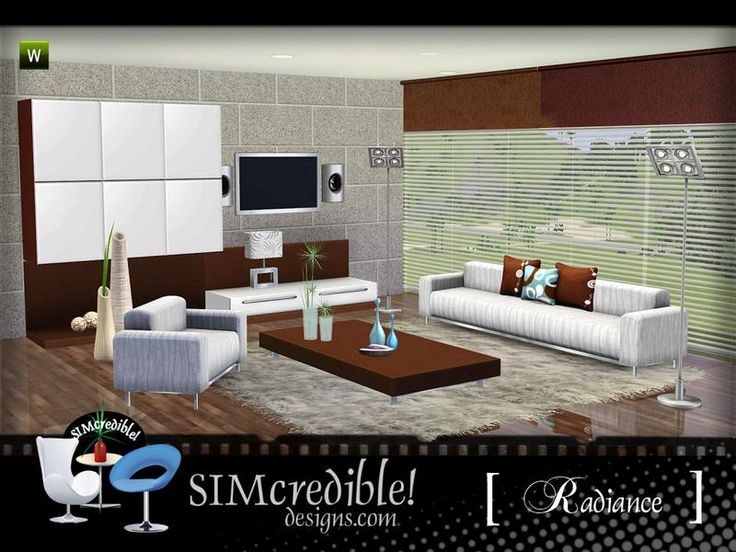 A Beautiful And Modern Living Room To Enhance Your Sim Homes By RoomsLiving SetsHomesArtistsBeautifulSims 3