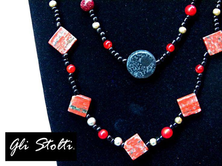"""Collana in pietre dure """"Madre Terra"""". Gli Stolti Original Design. Handmade in Italy.  http://gli-stolti.blogspot.it/2013/11/collana-madre-terra.html  #moda #artigianato #design #madeinitaly #shopping #roma #bijoux"""