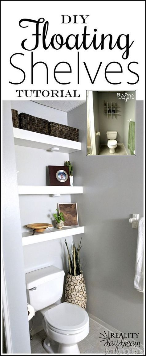 How to build DIY Floating Shelves to be installed above the toilet in the bathro…   – Bathrooms