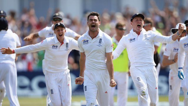 James Anderson was England's final-day hero as the hosts held their nerve to complete an astonishing 14-run victory over Australia in an unforgettable climax to the opening Ashes Test.