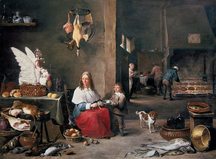Teniers the younger, David - Kitchen Interior