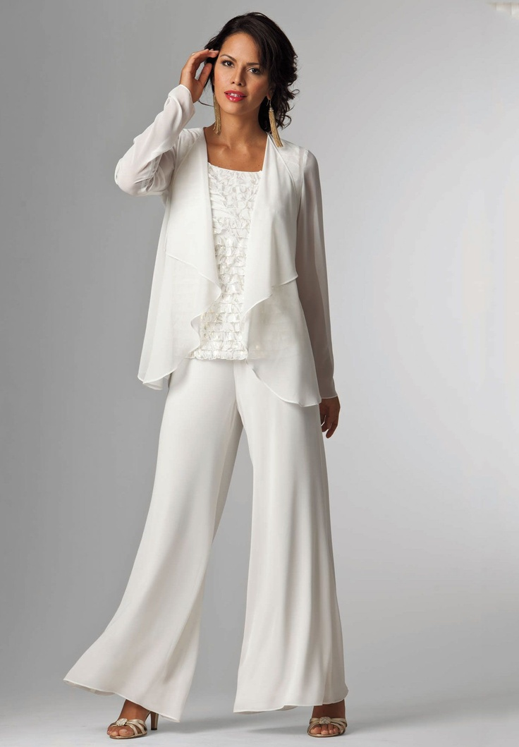 Plus Size Tiered Ruffled Pantset Image Diy Ropa Gorditas Find This Pin And More On White Pants Suit