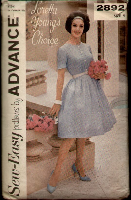 Advance 2892 Vintage 1960s Loretta Young Pin by CemetarianHardCopy, $14.00