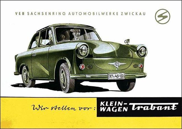 #Trabant #P50 #Trabbi #60Jahre #Geburtstag #HappyBirthday #VEB #Sachsenring #Automobilwerke #Zwickau #DDR #Werbung #Reklame #Ostalgie #EastGermany #Vintage #Commercial #Advertising