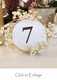 nice idea....: Wedding Ideas, Pearls, Rings, Wire Ornamental, Table Numbers, Ornamental Ring, Gold Wire, Vintage Gold