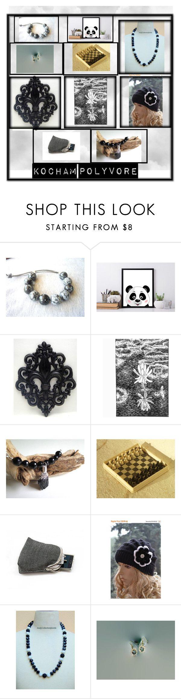 """Black & white etsy treasury"" by dorota-kujawa on Polyvore featuring etsy, polyvorecontest i yoinscollection"