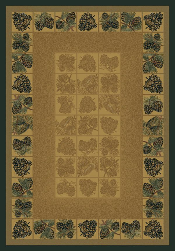 Genesis Pine Cones Naturual Area Rug - 5 Sizes Available