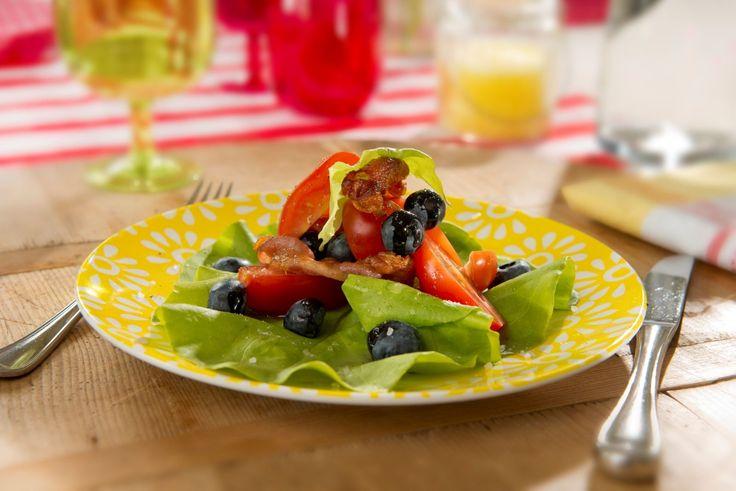 Blauwe bessen salade - met Zonnigfruit