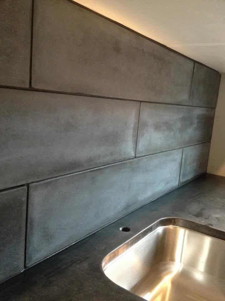48 Kitchen Ideas Countertops Concrete Counter Subway Tiles