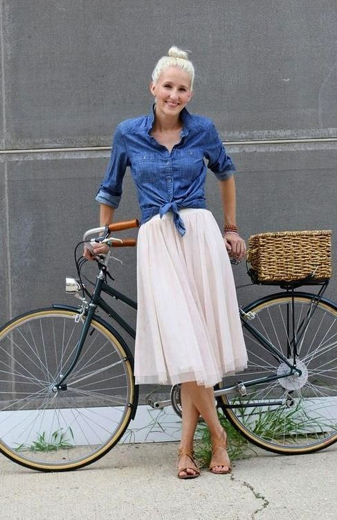 This cute, but I have tried riding a bike in a dress and it did not turn out well - maybe I'm doing it wrong? :)