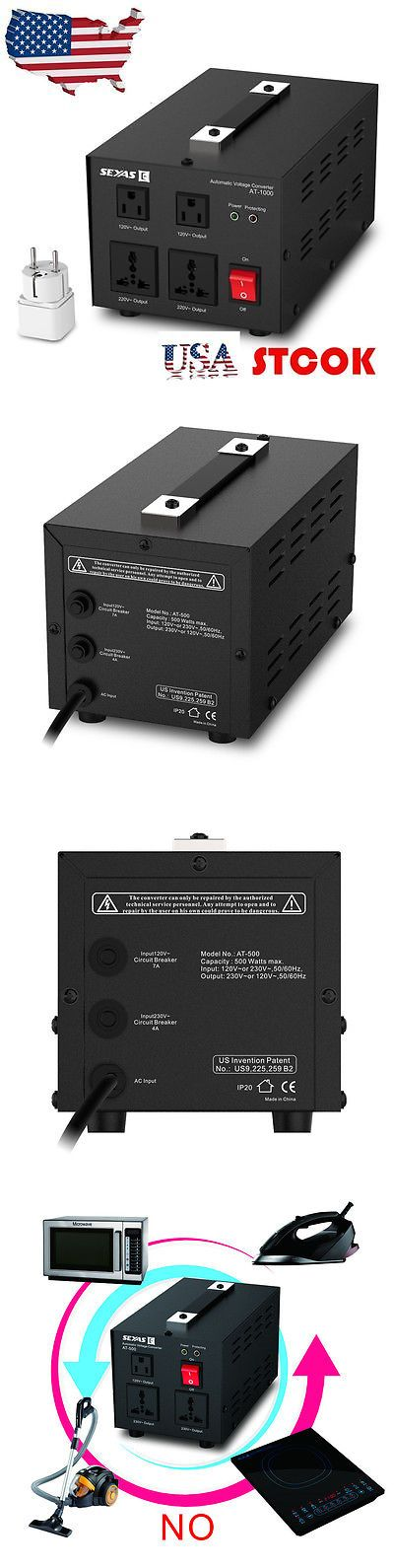 Travel Adapters and Converters: Seyas 1000W Watt Voltage Transformer Auto Step Up And Down Converter Heavy-Duty -> BUY IT NOW ONLY: $56 on eBay!