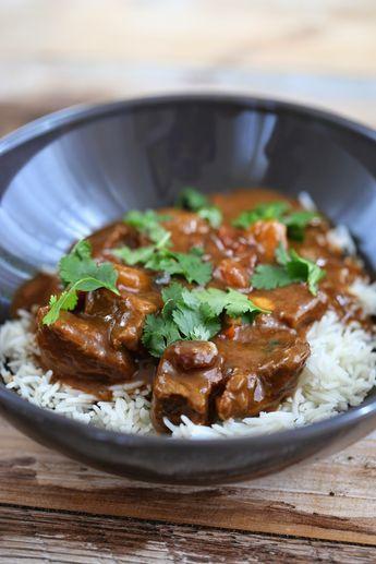 Curry de boeuf très parfumé