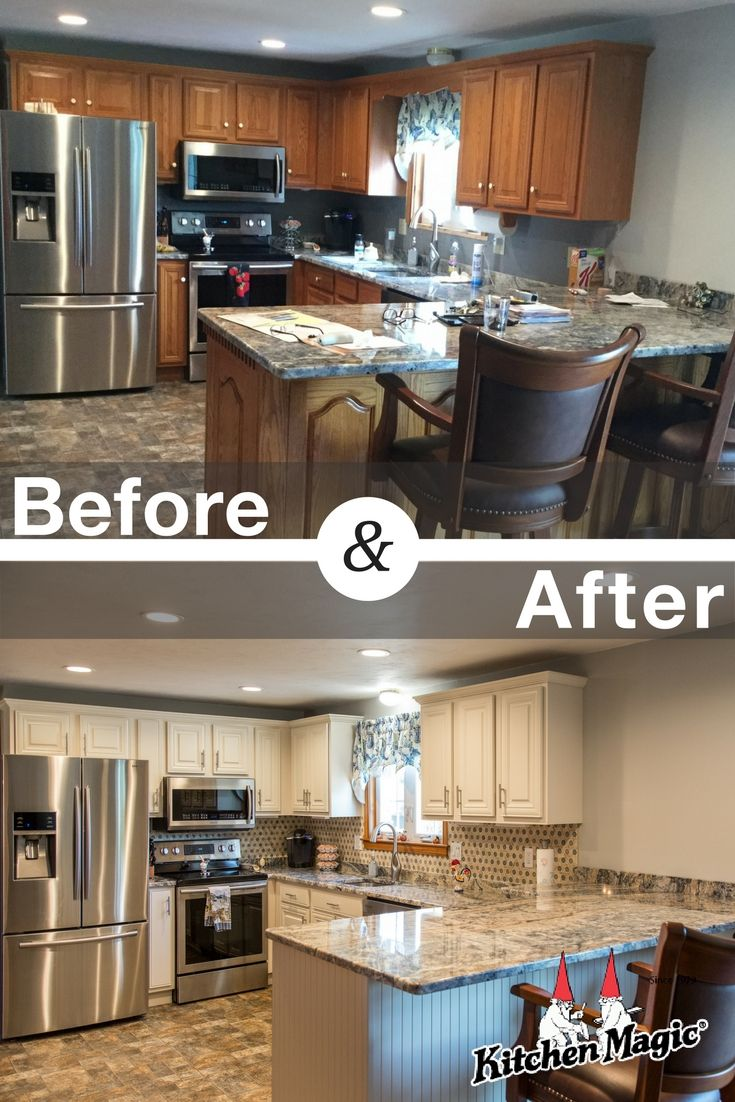 When Considering Options For Their Kitchen Remodel This Massachusetts Couple Decided That T Kitchen Remodel Small Replacing Kitchen Countertops Kitchen Design