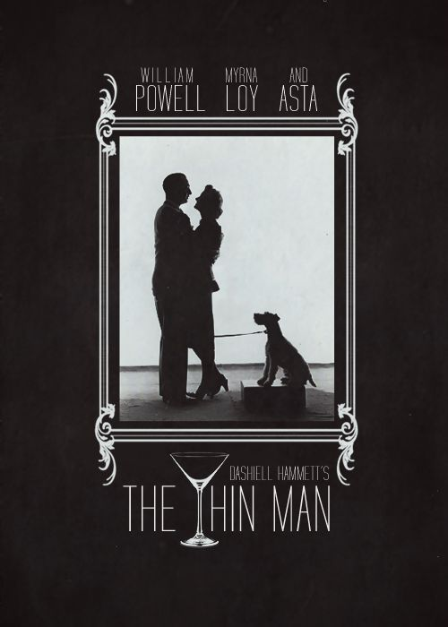 """Poster remake for """"The Thin Man"""", 1934"""