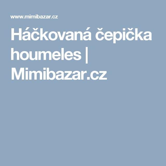 Háčkovaná čepička houmeles | Mimibazar.cz