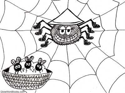 Short Kids Poem: What's for dinner, Spider?
