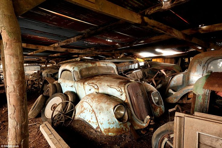 Some of the cars were bought by Mr Baillon, an entrepreneur, in the 1950s and have been pa...