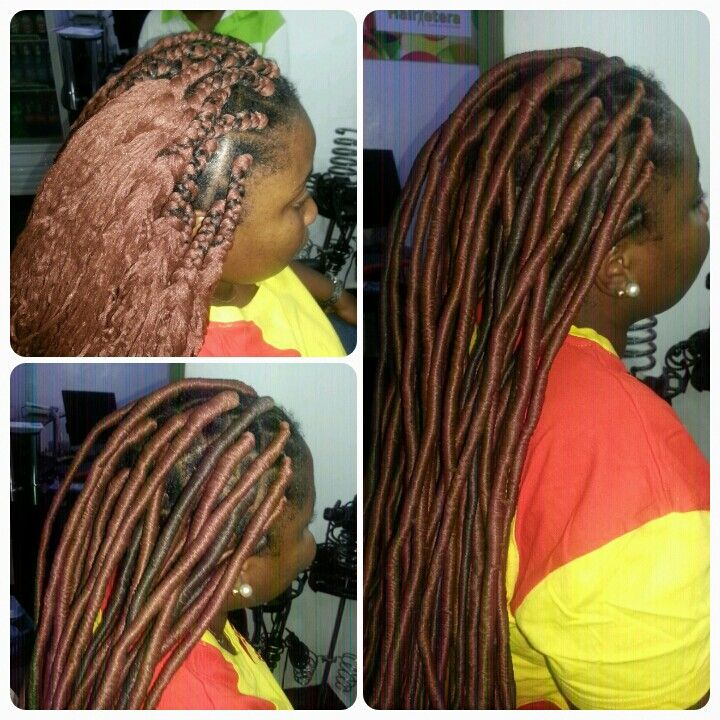 Fauxlocs With Brazilian Wool Styled By Hairxetera Hair
