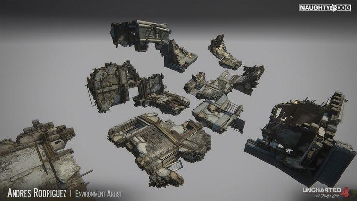 ArtStation - Uncharted 4 - Tower Fallen, Andres Rodriguez