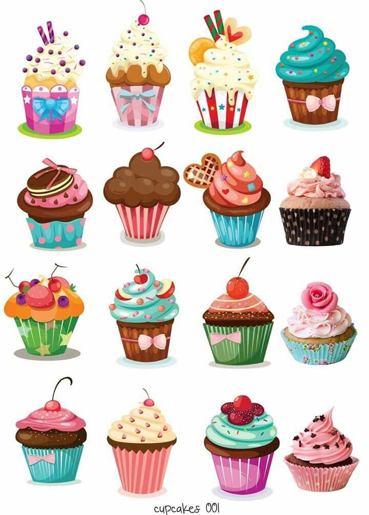 Pin De Analia Cort 233 S En Cupcakes Pinterest Dibujos