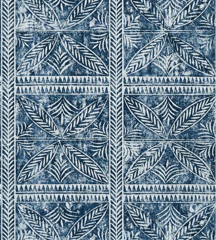 Timbuktu in 2020 Navy wallpaper, Thibaut, Mud cloth