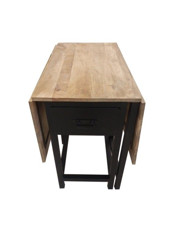Table Extensible Design Bois Métal