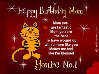 Birthday for Son From Mom   BIRTHDAY GREETINGS FOR MOTHERS