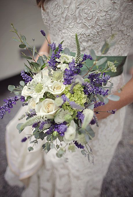 Purple and white, lavender and rose bridal bouquet by Marianmade Farm Fresh Florals (Cuppa Photography)