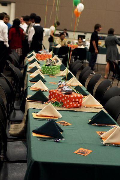 Best sports centerpieces images on pinterest banquet