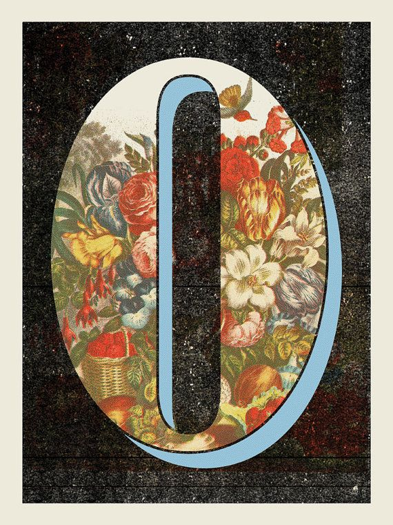 A beautiful O. Print available on etsy from methane studios - only 10 bucks.