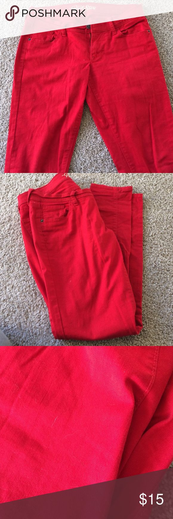 Red Rockstar Jeans Like new condition except for two small pen marks on front. They may come out in the wash Old Navy Jeans Straight Leg