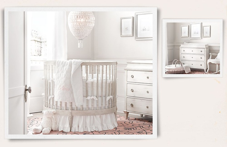 Rooms  Restoration Hardware Baby & Child. white nursery with hot air ...