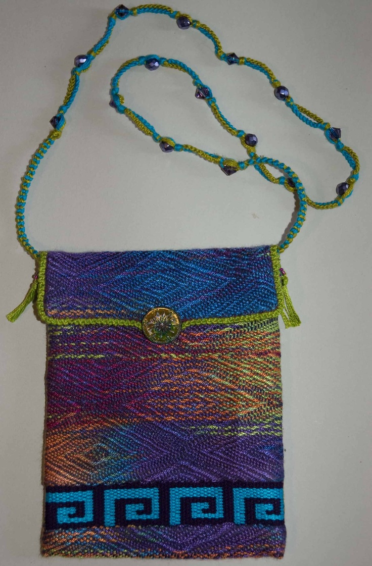 Bags that I  make from leftover handwoven fabrics.
