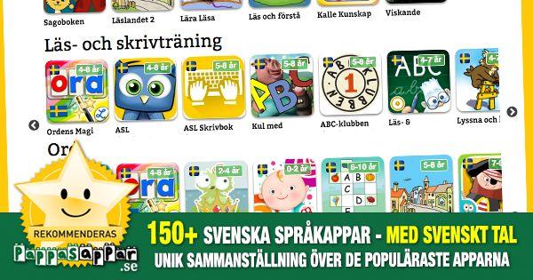 150+ svenska språkappar för barn, nyanlända, SVA, SFI
