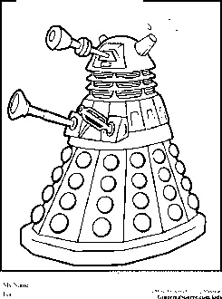 Dr Who Coloring Pages Dalek
