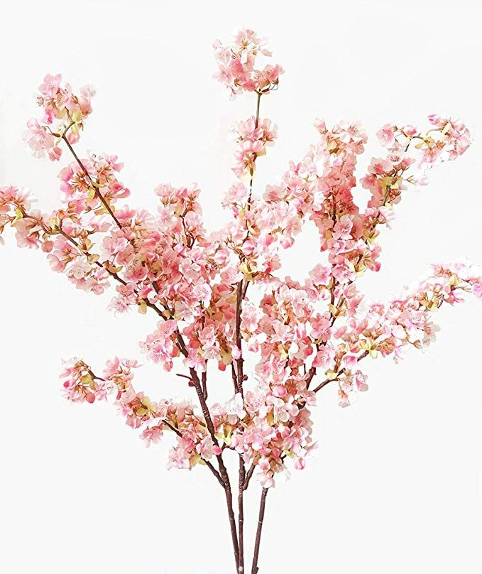 Ahvoler 39 Inch Artificial Cherry Blossom Branches Flowers Silk Peach Flowers Arrangements For H Fake Flower Arrangements Fake Flowers Home Wedding Decorations