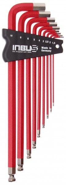 INBUS® 70327 - Rot 9tlg. 1,5-10mm Made in Germany      Satz 9tlg. 1.5-10mm     hochwertig in rot pulverbeschichtet     optisch sehr ansprechend und funktional     10 Jahre Garantie     Marke: INBUS® - Das Original seit 1934.  http://www.inbus.de/home/inbus-farbcodiert/50/inbus-70327-inbusschluessel-satz?c=8