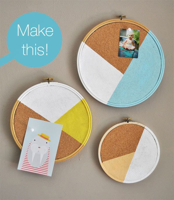 Modern Geo Embroidery Hoop Cork board – The Trend Report - 2Modern