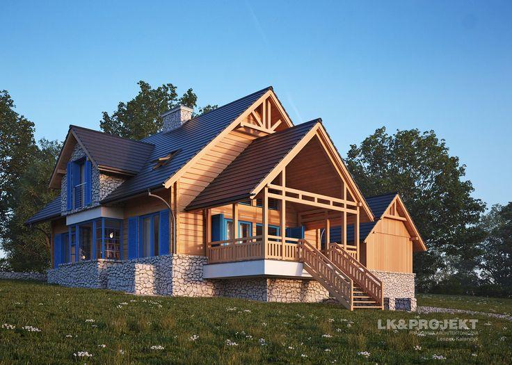 LK&1297 - dom z bali i kamienia wapiennego #lk-projekt #lkprojekt #lkproject #projektdomu #projekty #domjednorodzinny  #house #project #beautifulhouse  #homesweethome #design #architecture #polisharchitecture #traditionalhouse #dom #domtradycyjny http://lk-projekt.pl/lkand1297-produkt-9614.html