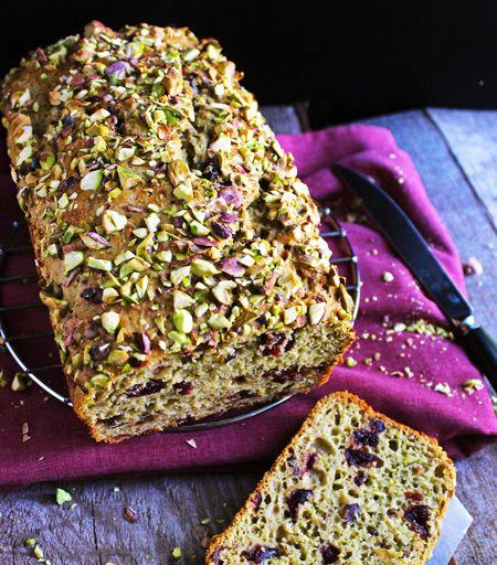 Healthy, Whole Wheat Cranberry Pistachio Loaf - FoodFaithFitness