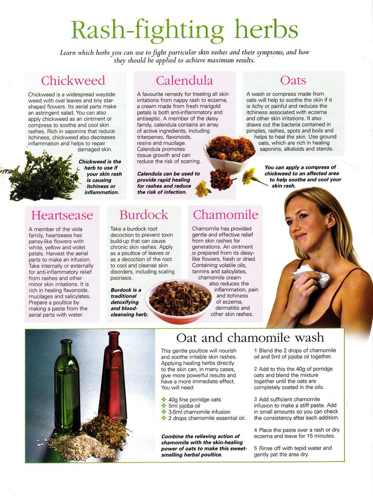 Herbs that fight rashes and skin infections