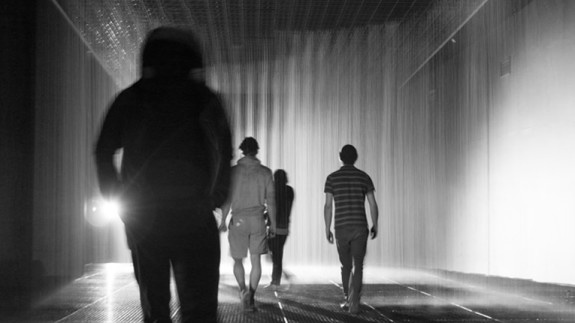 Rain Room @ Barbican Centre's The Curve Gallery in London, followed by MoMA in New York City.