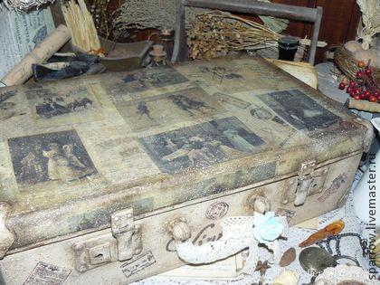 """""""""""Vintage"""" - чемодан - чемодан,чемодан декупаж,предмет интерьера,винтаж"""