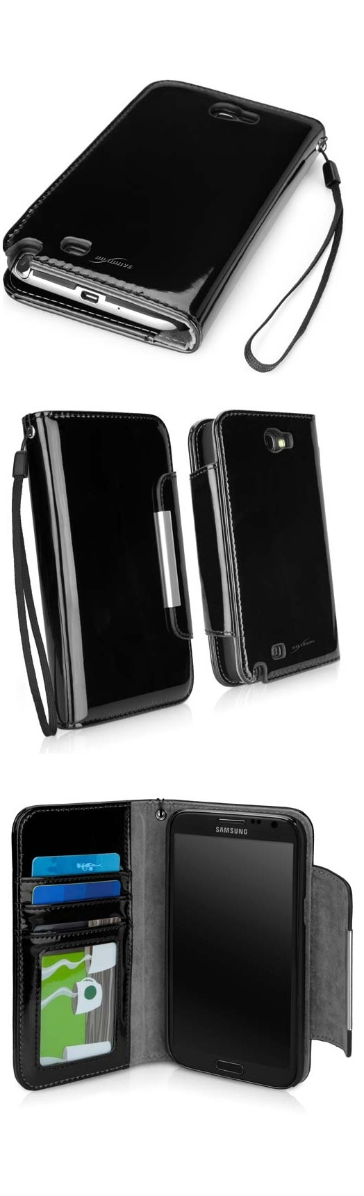 So CUTE !!! This CHIC Little Purse is also your Phone Case and Wallet!    Day-to-Night; All in One --- ♠ BoxWave Galaxy Note 2 case in Jet Black ♠